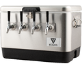 Komos™ Stainless Steel Draft Box - 4 Tap