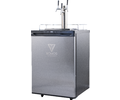 KOMOS™ Kegerator with Stainless Steel Intertap Faucets - FREIGHT SHIPPING ONLY