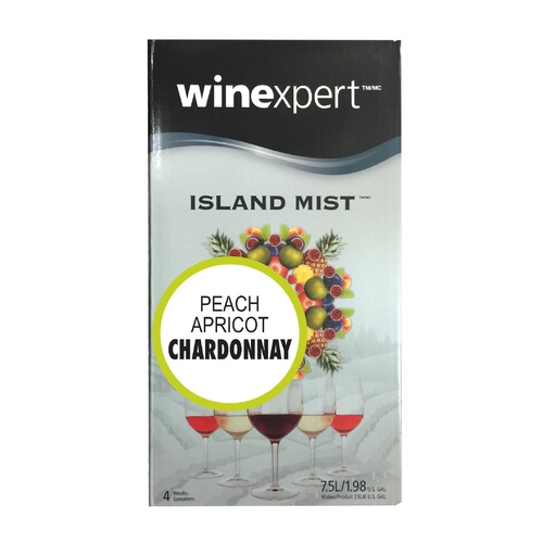 Winexpert Island Mist Peach Apricot Chardonnay Wine Recipe Kit