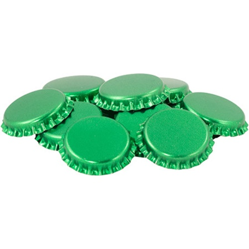 Crown Caps - Green - Oxygen Barrier - Case of 10,080