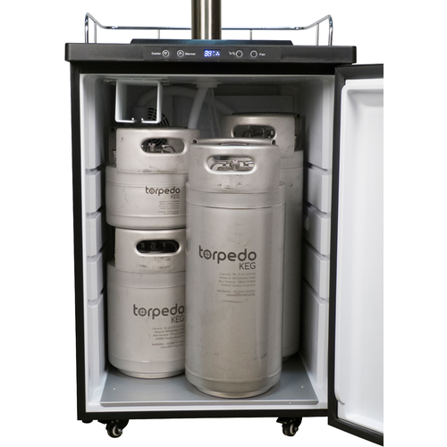 Kegerator with Stainless Steel Intertap Faucets -