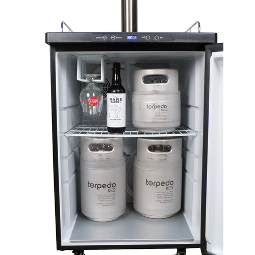 Kegerator with Stainless Steel Flow Control Intertap Faucets - WHOLESALE FREIGHT ONLY