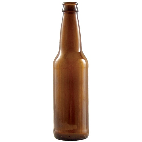 Beer Bottles - 12 oz Amber Longneck (Case of 24) - Pallet of 60 Cases