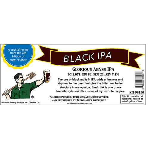 Palmer Premium Beer Kits - Glorious Abyss - Black IPA