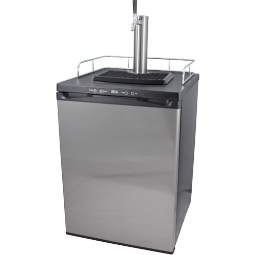 Kegerator With Stainless Steel Intertap Faucets - DROPSHIP ONLY