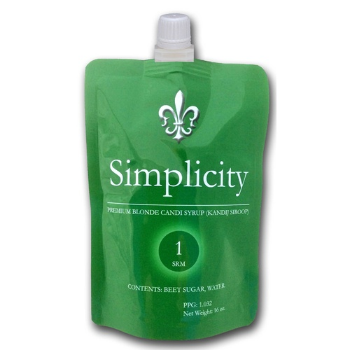 Candi Syrup - Simplicity (Clear) - 1 lb Pouch