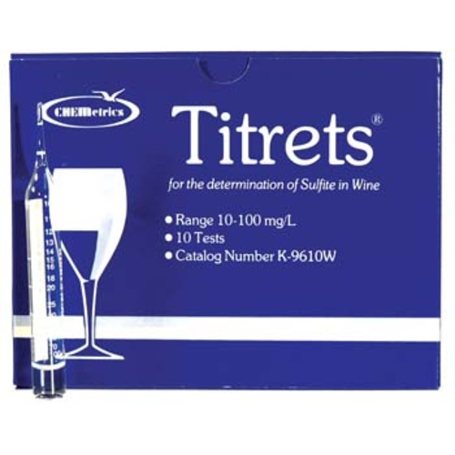 Titrets Free SO2 Tester - Box of 10